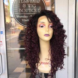 Accessories - Long Wig sale Atlanta Burgundy ombré curly Lace